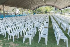 Белый стул Стоковая Фотография RF