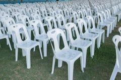Белый стул Стоковая Фотография