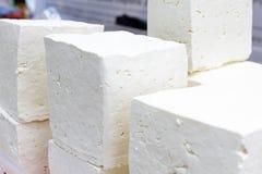 Белый сыр рассола от молока коровы, козы или овец готового для еды Sirene белого рассола болгарское готовое для consummation Trad Стоковые Изображения RF