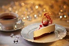 Белый торт шоколада Стоковое Фото