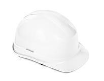 Белый трудный шлем Стоковые Изображения RF