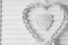 Белый улавливатель мечты сердца Стоковая Фотография