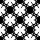 Белый флористический дизайн на черной предпосылке картина безшовная Стоковая Фотография RF