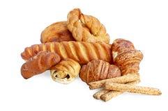 Белый хлеб и крены и ручки хлеба Стоковое фото RF
