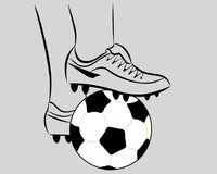 Белый шарик футбола Стоковая Фотография