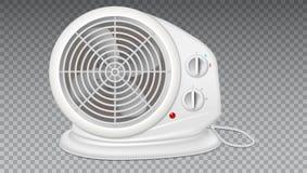Белый электронагреватель с вентилятором, прибором радиатора бесплатная иллюстрация