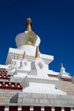 Белый Pagoda в Тибете Стоковые Фото