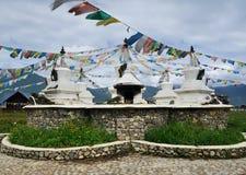 Белый Pagoda Тибет Стоковая Фотография RF