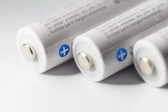 Белый Panasonic двойное перезаряжаемые батареи Стоковые Изображения