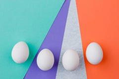 4 белых пасхального яйца Стоковое фото RF