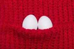 2 белых яичка Стоковая Фотография
