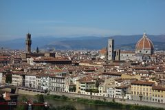 Бельведер городка Флоренса стоковые фотографии rf