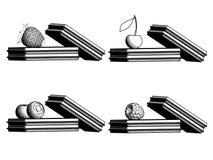 бельгийские waffles ягод визуализирование 3d иллюстрация вектора