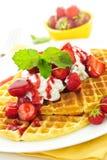 бельгийские waffles Стоковое Изображение