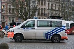 Бельгийский федеральный полицейский фургон Стоковая Фотография RF