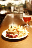 бельец пива reuben сандвич Стоковое Изображение