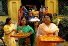 бенгальские ритуалы Индии wedding Стоковое Изображение RF