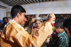 бенгальские ритуалы Индии wedding Стоковое фото RF