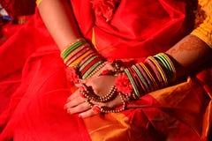Бенгальская свадебная церемония девушки Стоковое фото RF