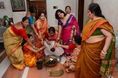 Бенгальская свадьба стоковая фотография rf