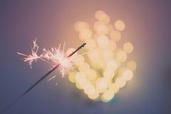 Бенгальские огни и bokeh Стоковые Изображения RF