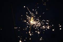 Бенгальские огни на синей предпосылке Стоковые Фотографии RF