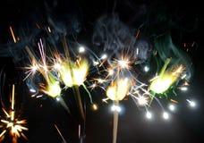 Бенгальские огни стоковое изображение