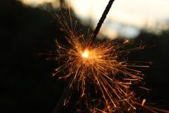 Бенгальский огонь быстрого движения Стоковое Изображение
