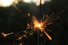 Бенгальский огонь быстрого движения Стоковые Изображения RF