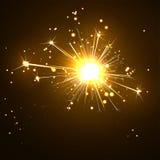 Бенгальский огонь накаляющ, сверкнать и Blistering на темном Брайне Стоковое Изображение RF