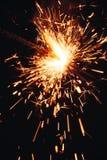 Бенгальский огонь на темной предпосылке Стоковое Изображение RF