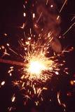 Бенгальский огонь на темной предпосылке Стоковая Фотография RF