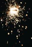 Бенгальский огонь на темной предпосылке Стоковые Фотографии RF