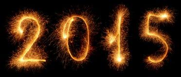 Бенгальский огонь. Новый Год 2015 Стоковые Фотографии RF