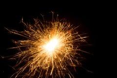 Бенгальский огонь освещенный в темноте Стоковое фото RF