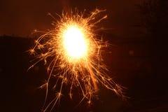 Бенгальский огонь долгой выдержки Стоковое Изображение RF