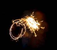 Бенгальский огонь партии Нового Года Стоковая Фотография