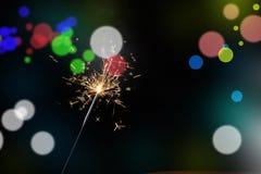 Бенгальский огонь рождества Стоковое Фото