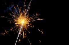 Бенгальский огонь рождества Стоковое Изображение