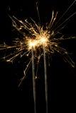 Бенгальский огонь рождества Стоковое фото RF