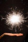 Бенгальский огонь фейерверка Стоковое Изображение