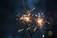 Бенгальский огонь формы сердца Стоковая Фотография