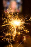 Бенгальский огонь Xmas стоковые изображения