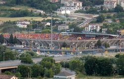 Беневенто - стадион перед выпускными экзаменами Стоковое Изображение