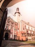 Бенедиктинский монастырь в Broumov с церковью St Adalbert, Broumov, чехии стоковое фото rf