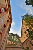Бенедиктинский монастырь Монтсеррата (Monasterio de Монтсеррат) Стоковое Фото