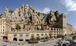 Бенедиктинский монастырь Santa Maria de Монтсеррата в Испании Стоковое Изображение