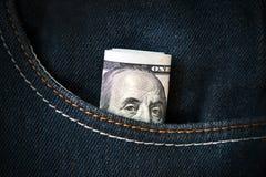 Бенжамин Франклин доллары 100 одних Стоковая Фотография RF