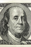 Бенжамин Франклин 100 частей конца-вверх долларовой банкноты Стоковая Фотография RF