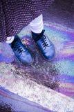 Бензин, ботинки Стоковые Фото